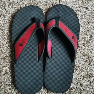 Mens the north face summer sandals black and red